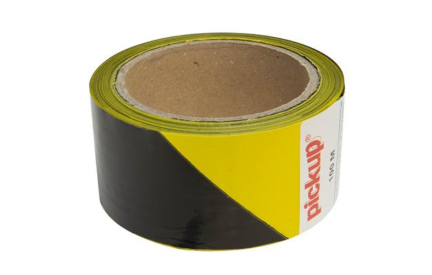 Signaleringslint 50 mm x 100 m zwart/geel