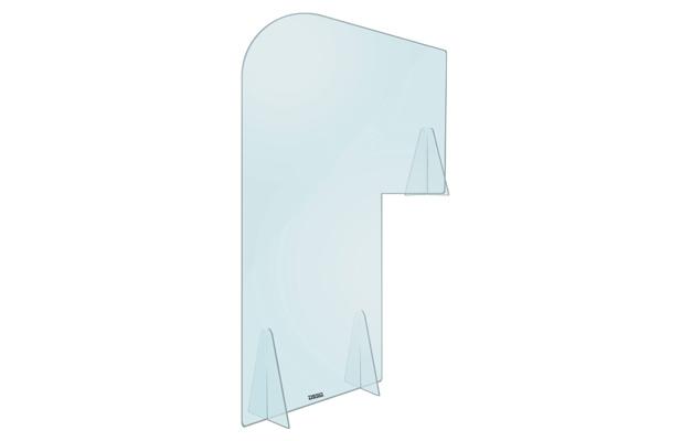 Plexiglas Vergaderboogscherm 140 x 105 cm